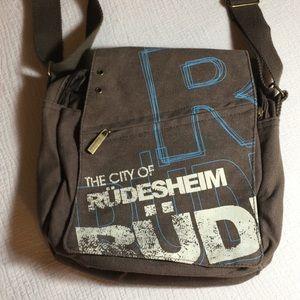 Robin Ruth crossbody brown canvas bag
